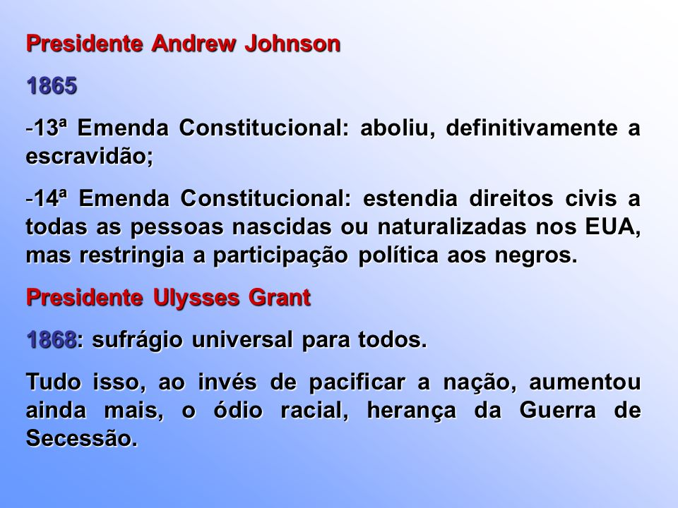 Presidente Andrew Johnson