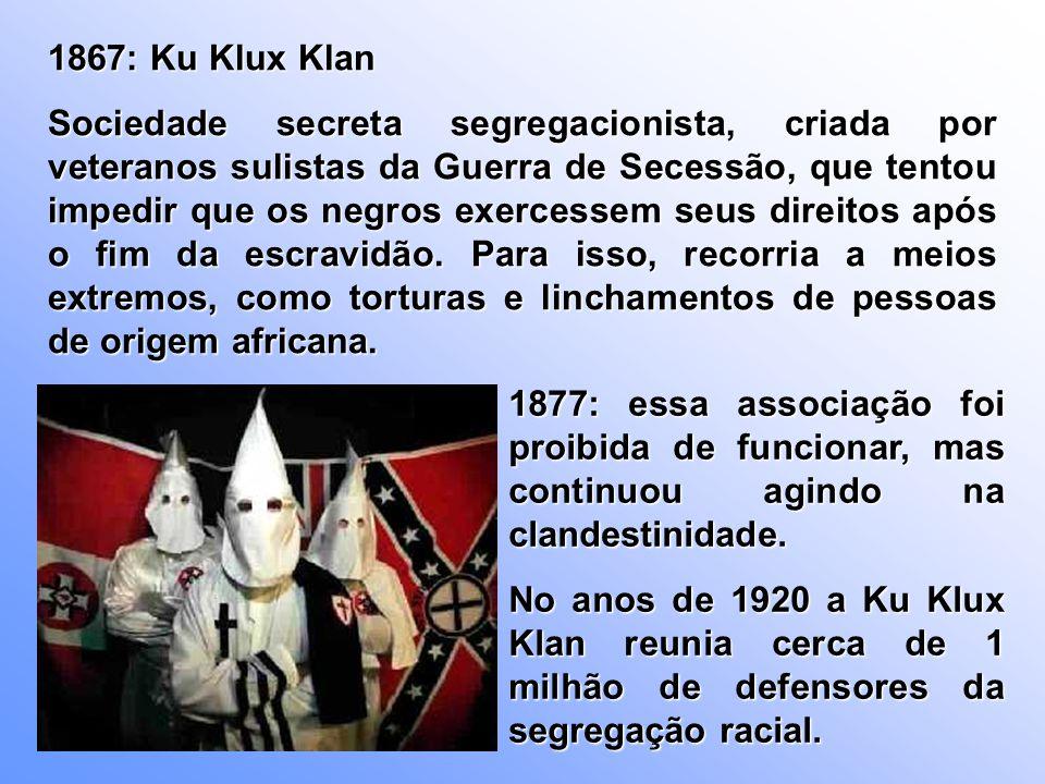 1867: Ku Klux Klan