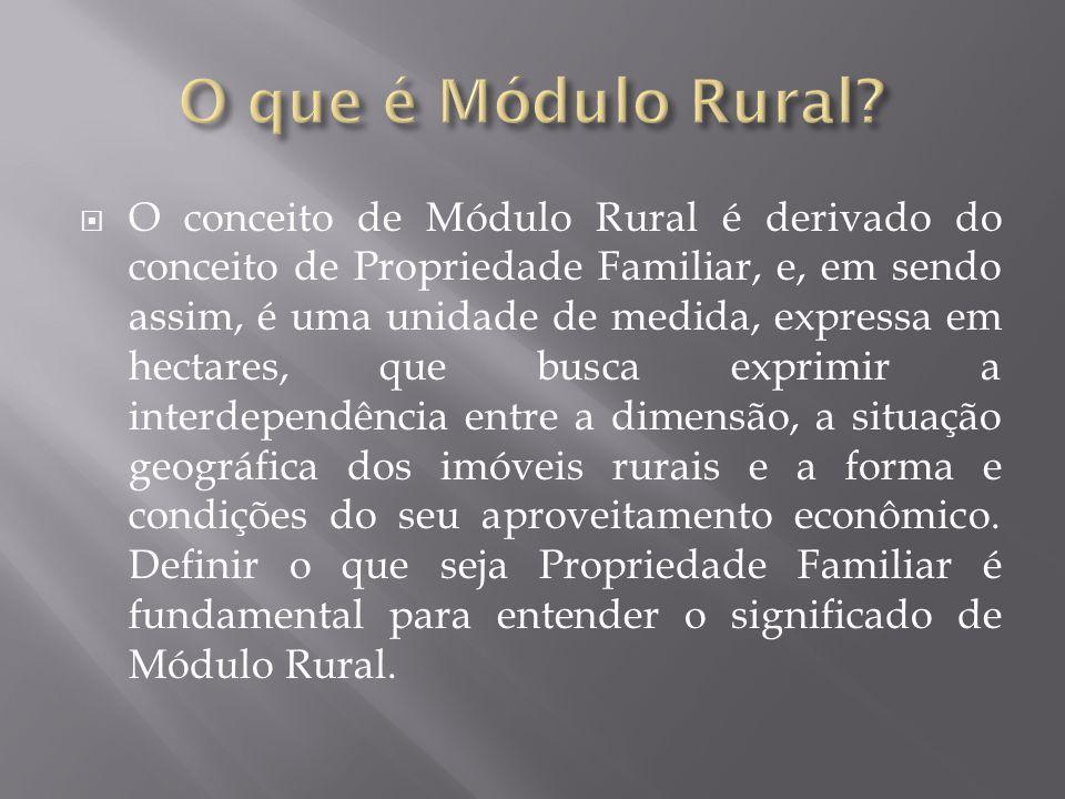 O que é Módulo Rural