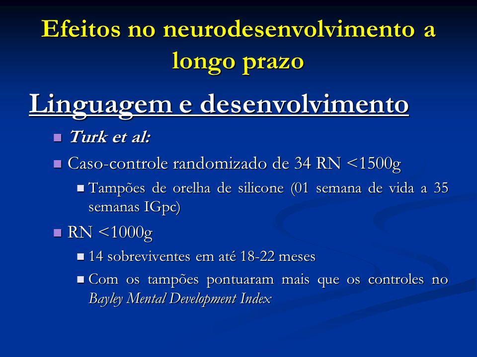 Efeitos no neurodesenvolvimento a longo prazo