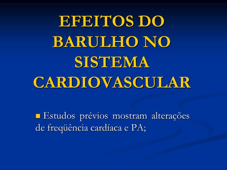 EFEITOS DO BARULHO NO SISTEMA CARDIOVASCULAR