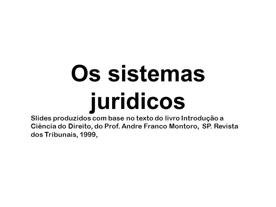 Os sistemas juridicos