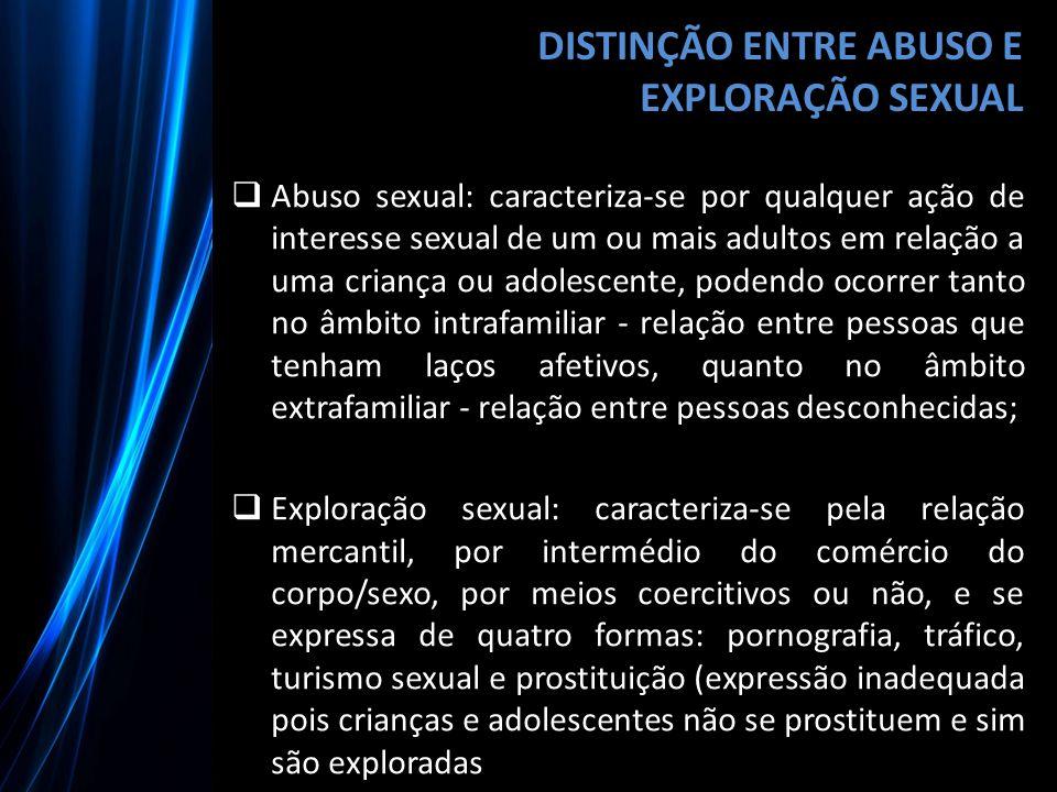 DISTINÇÃO ENTRE ABUSO E EXPLORAÇÃO SEXUAL