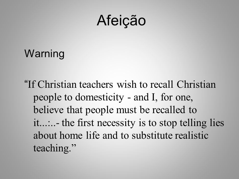 Afeição Warning.