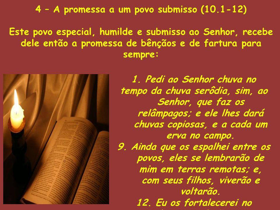 4 – A promessa a um povo submisso (10.1-12)