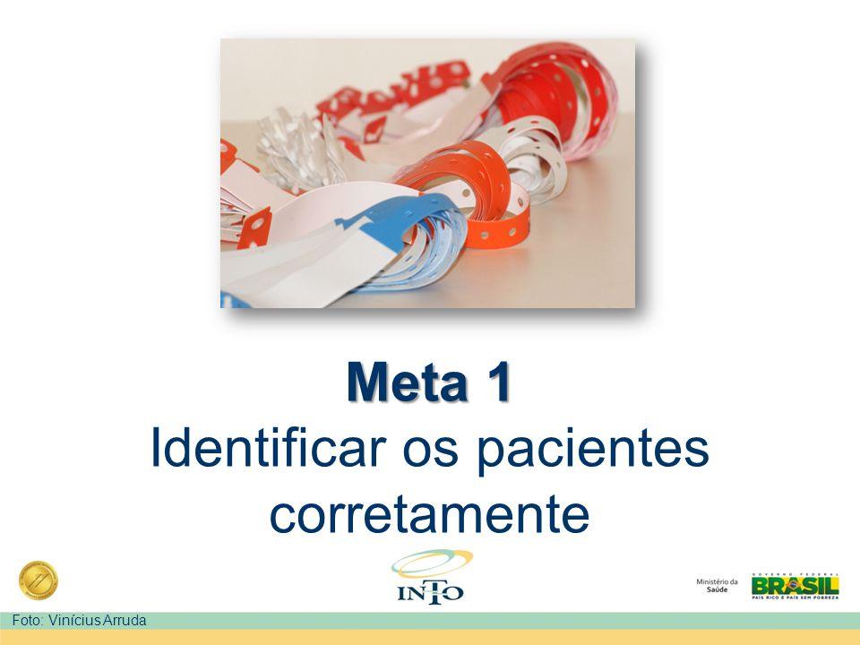Meta 1 Identificar os pacientes corretamente