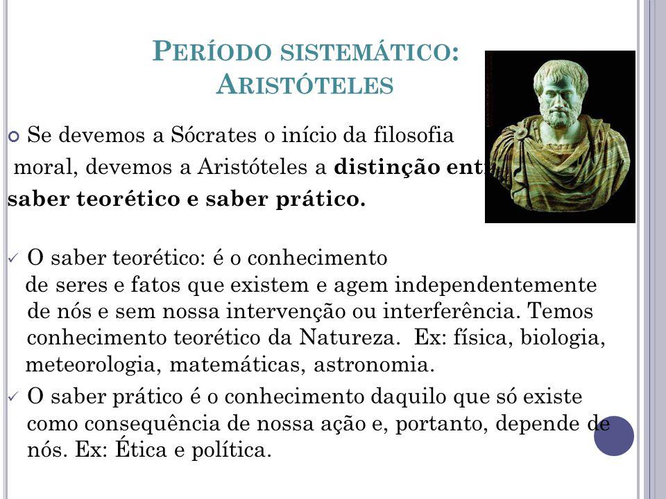 Período sistemático: Aristóteles