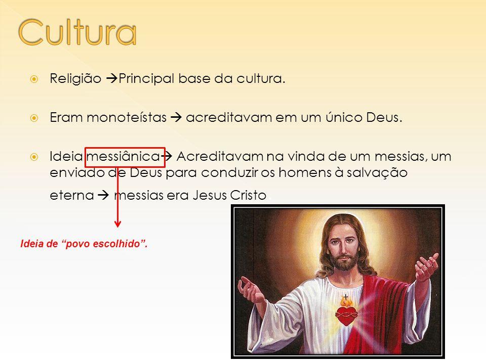 Cultura Religião Principal base da cultura.