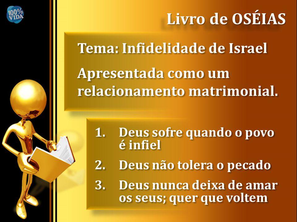 Livro de OSÉIAS Tema: Infidelidade de Israel