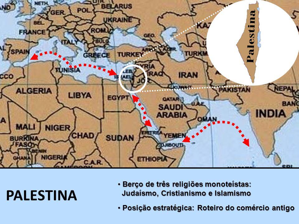 PALESTINA Berço de três religiões monoteístas: