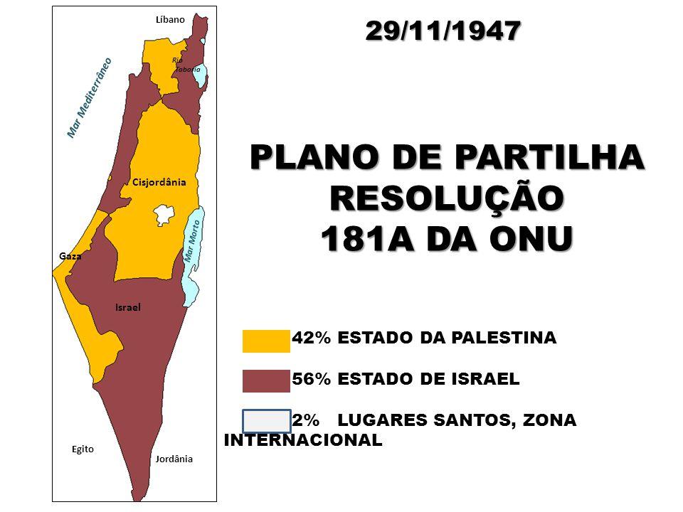 PLANO DE PARTILHA RESOLUÇÃO 181A DA ONU
