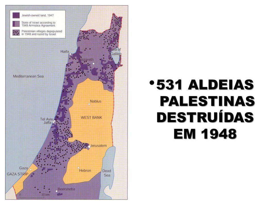 531 Aldeias Palestinas Destruídas em 1948