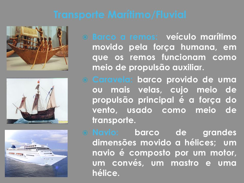 Transporte Marítimo/Fluvial