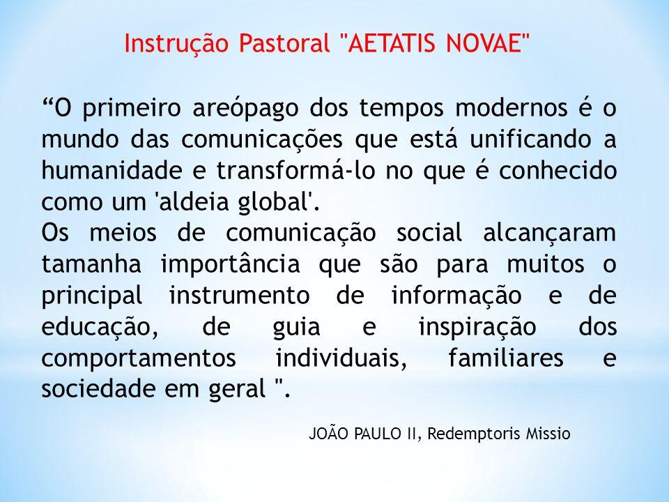 Instrução Pastoral AETATIS NOVAE