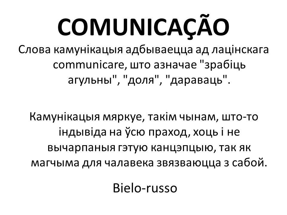 COMUNICAÇÃO Bielo-russo