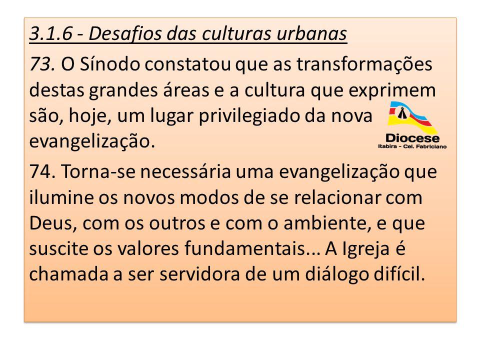 3. 1. 6 - Desafios das culturas urbanas 73