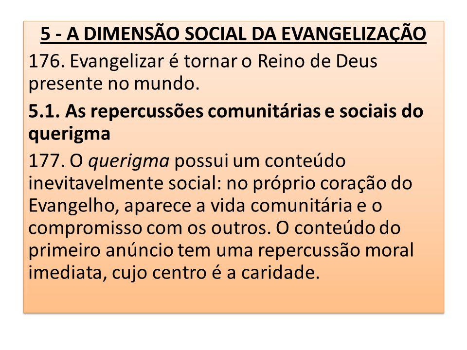 5 - A DIMENSÃO SOCIAL DA EVANGELIZAÇÃO
