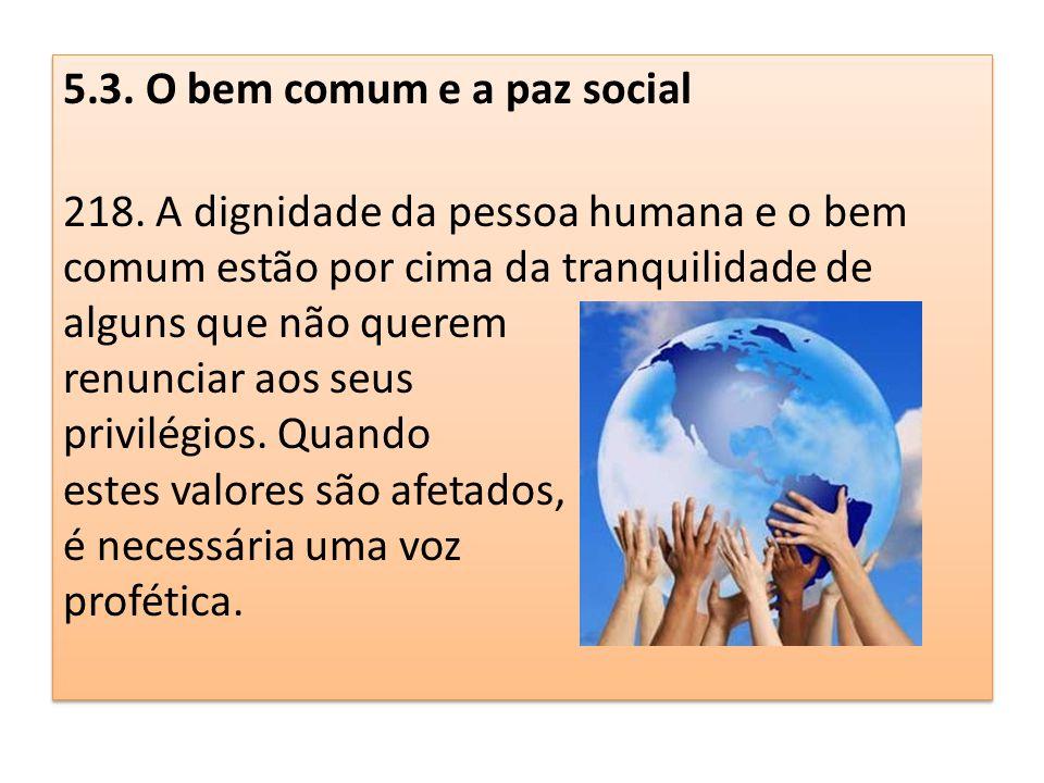 5. 3. O bem comum e a paz social 218