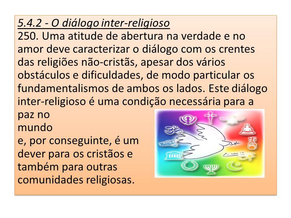 5.4.2 - O diálogo inter-religioso