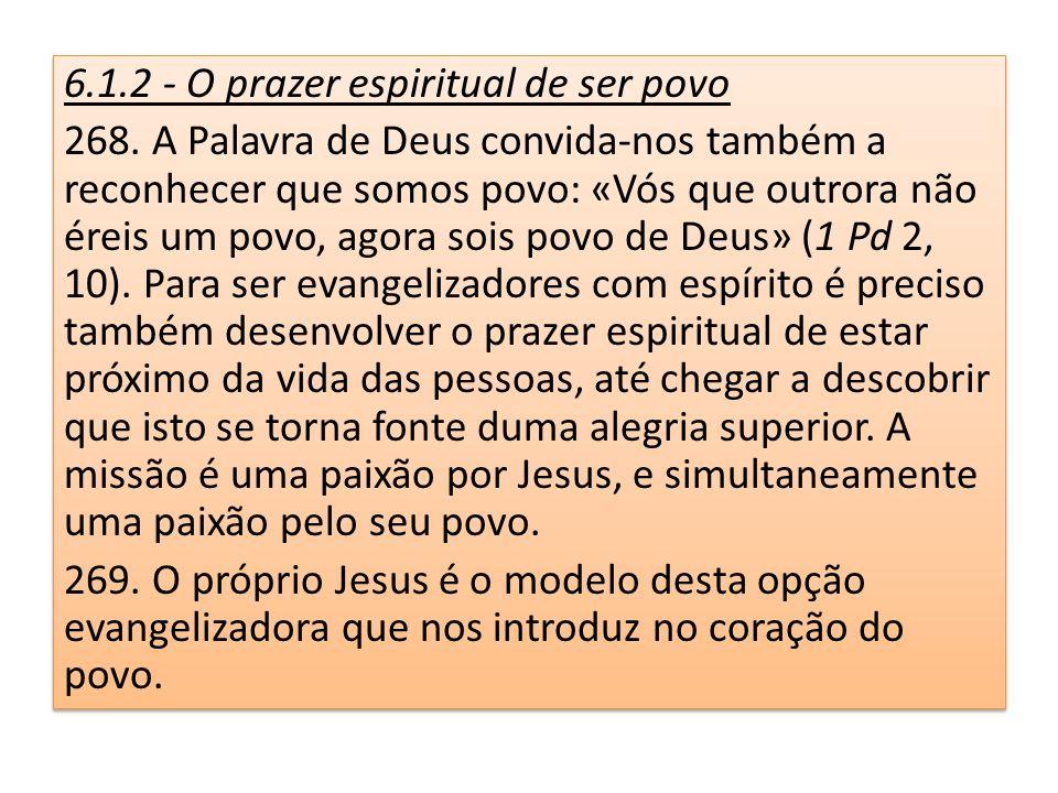 6.1.2 - O prazer espiritual de ser povo