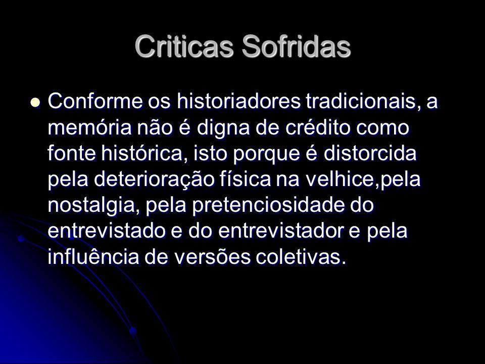 Criticas Sofridas
