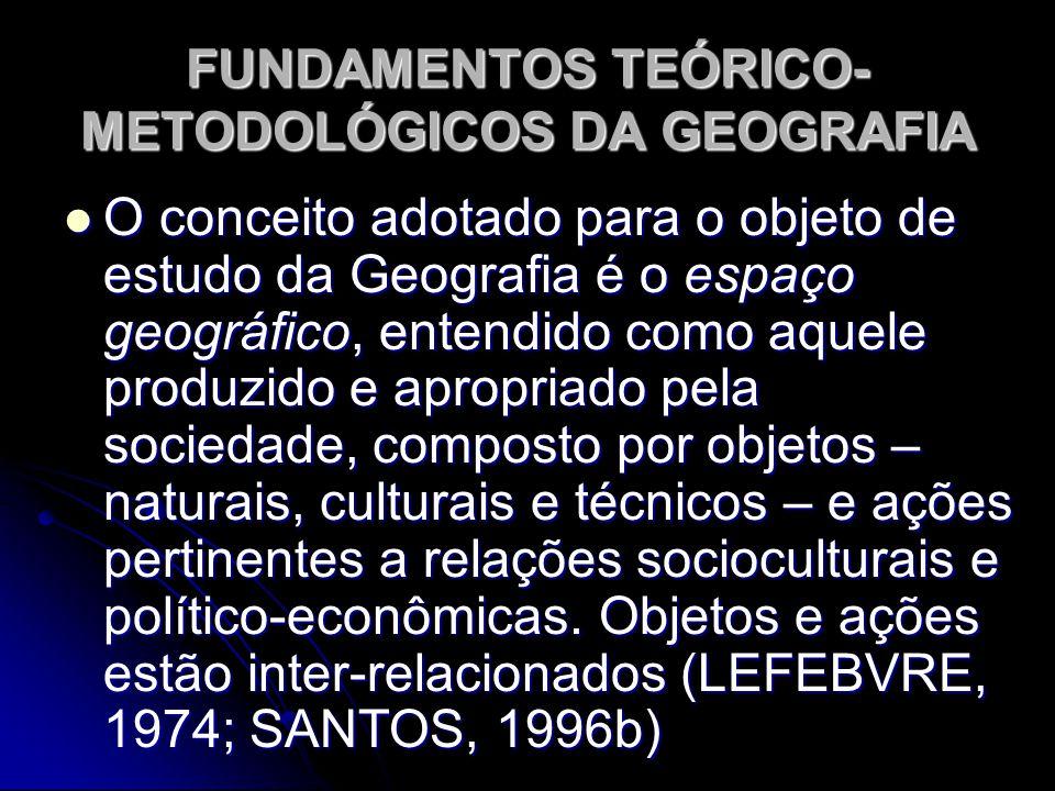 FUNDAMENTOS TEÓRICO-METODOLÓGICOS DA GEOGRAFIA