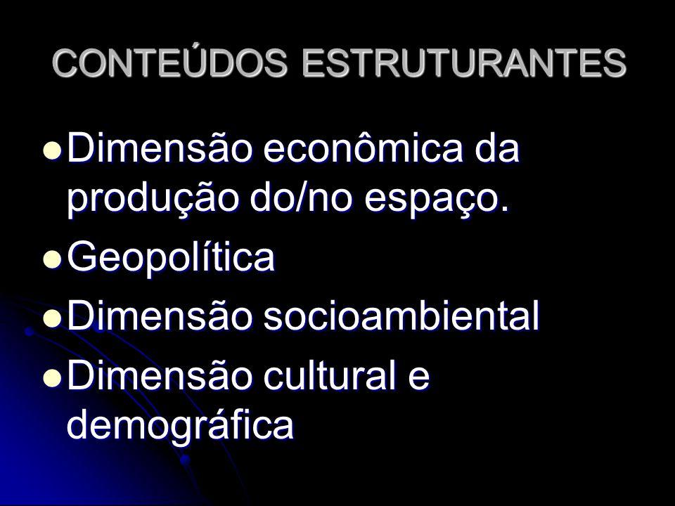 CONTEÚDOS ESTRUTURANTES