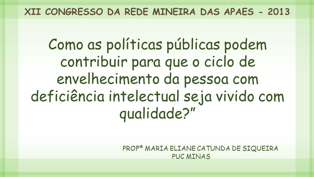 Profª Maria Eliane Catunda de Siqueira PUC MiNAS