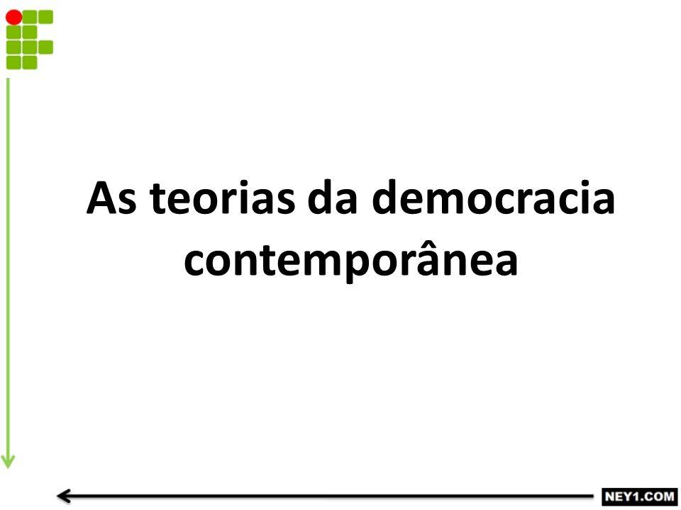 As teorias da democracia contemporânea