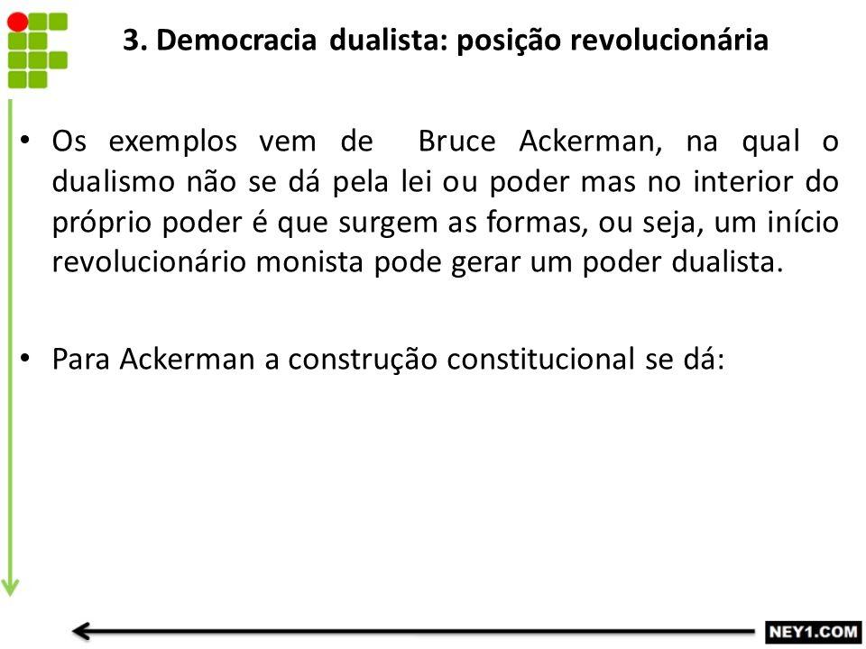 3. Democracia dualista: posição revolucionária