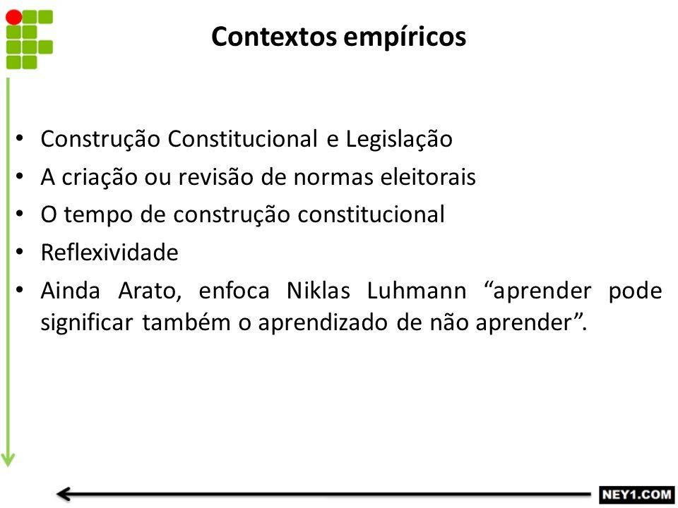 Contextos empíricos Construção Constitucional e Legislação