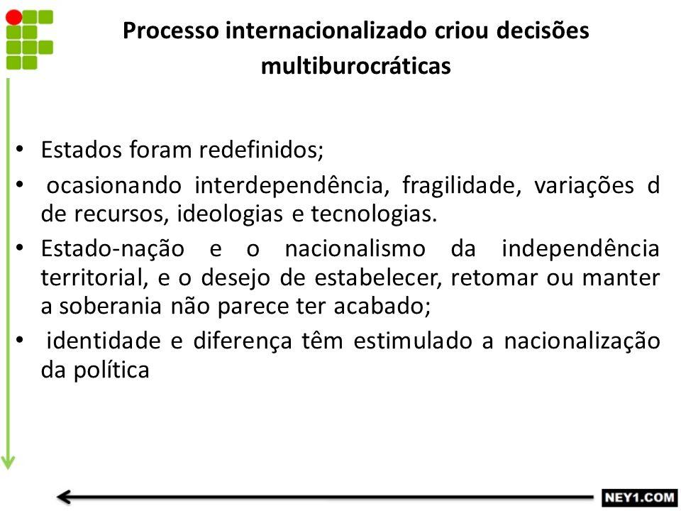Processo internacionalizado criou decisões multiburocráticas