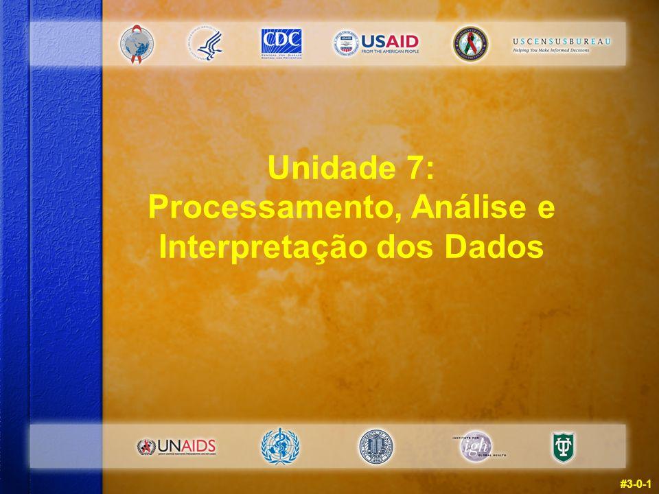 Unidade 7: Processamento, Análise e Interpretação dos Dados