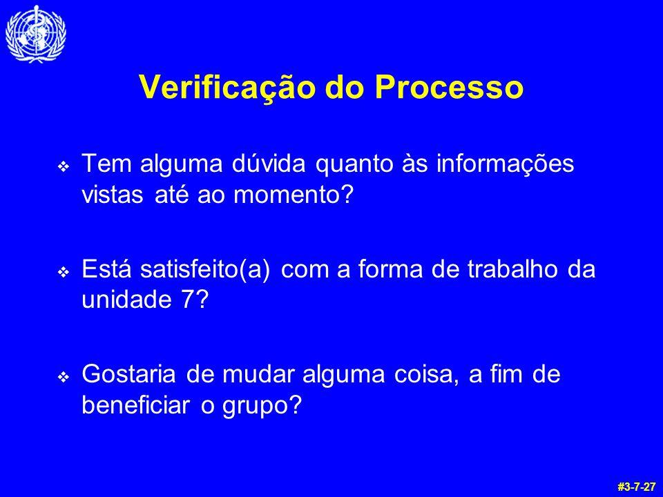 Verificação do Processo