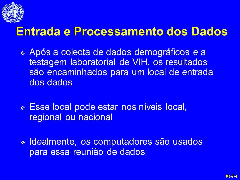 Entrada e Processamento dos Dados