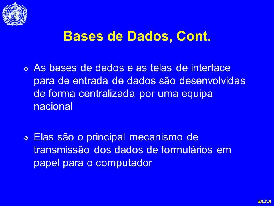 Bases de Dados, Cont.
