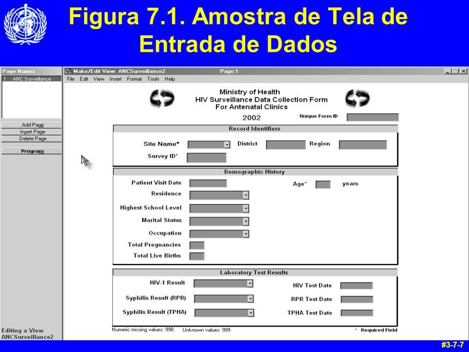 Figura 7.1. Amostra de Tela de Entrada de Dados