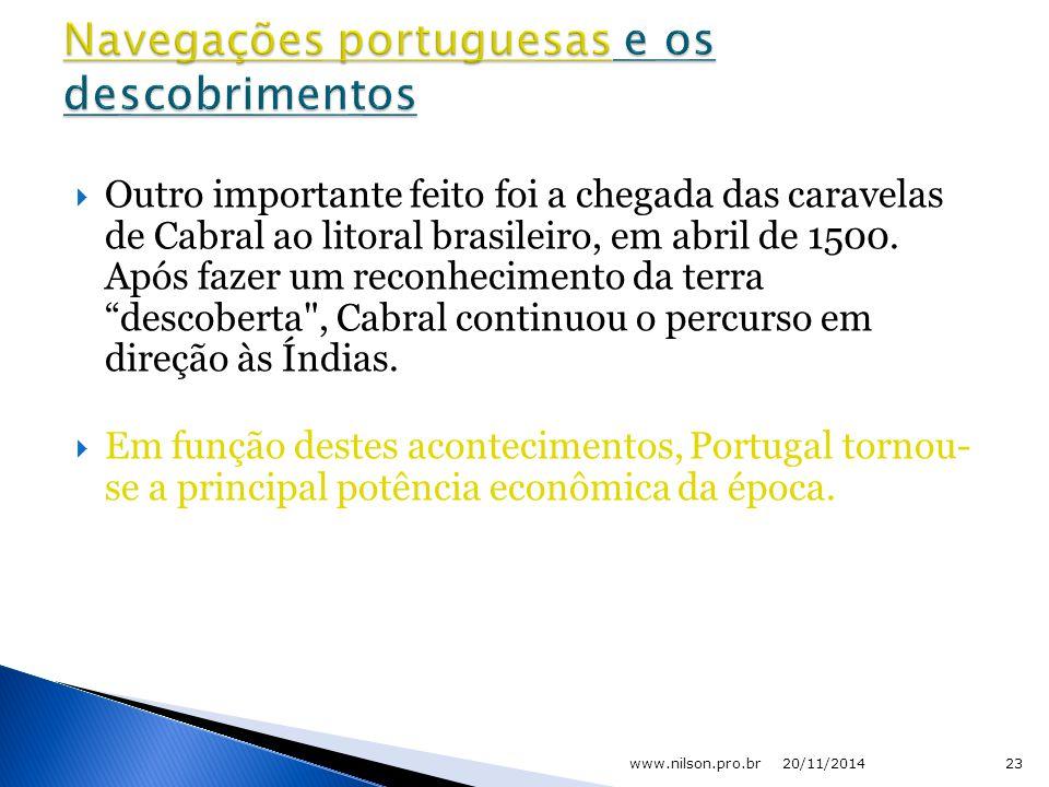 Navegações portuguesas e os descobrimentos