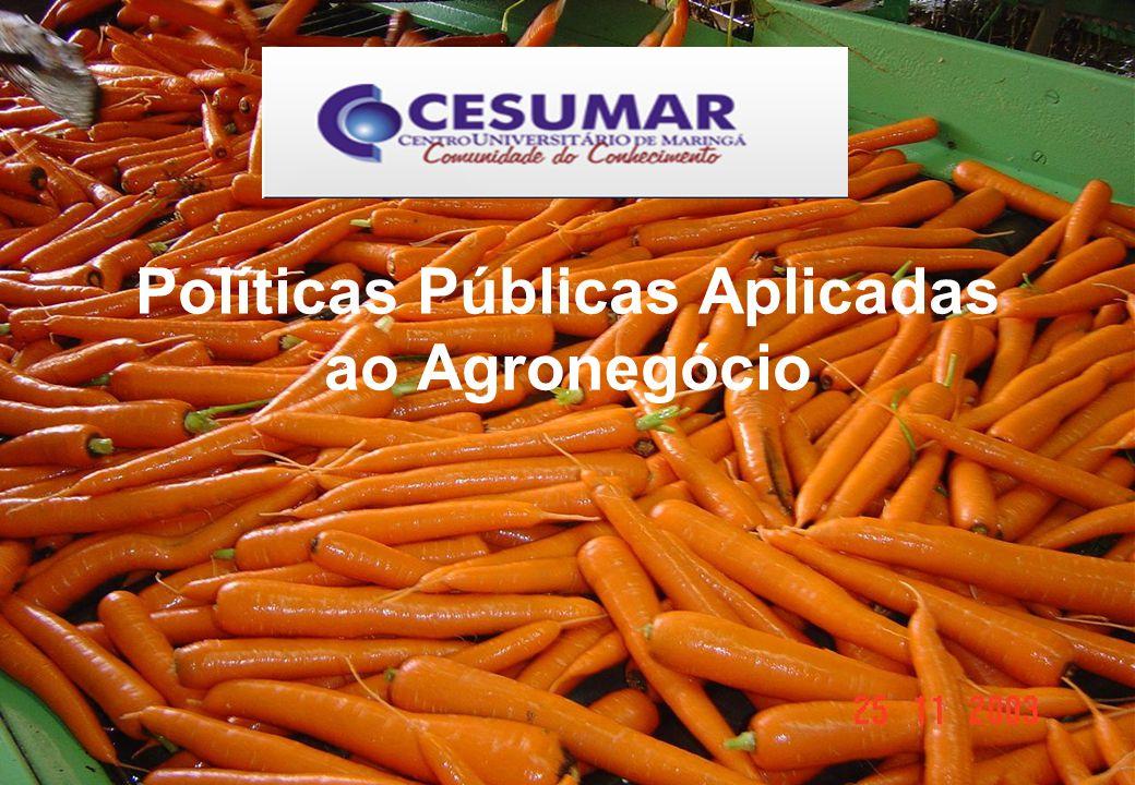 Políticas Públicas Aplicadas ao Agronegócio