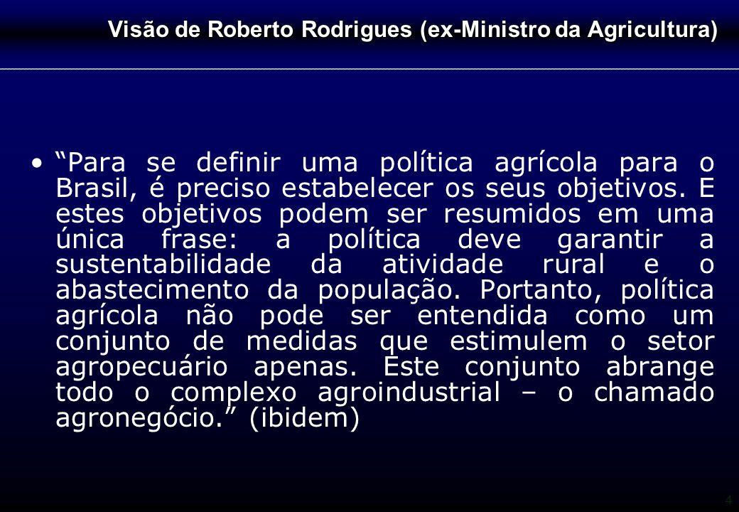 Visão de Roberto Rodrigues (ex-Ministro da Agricultura)