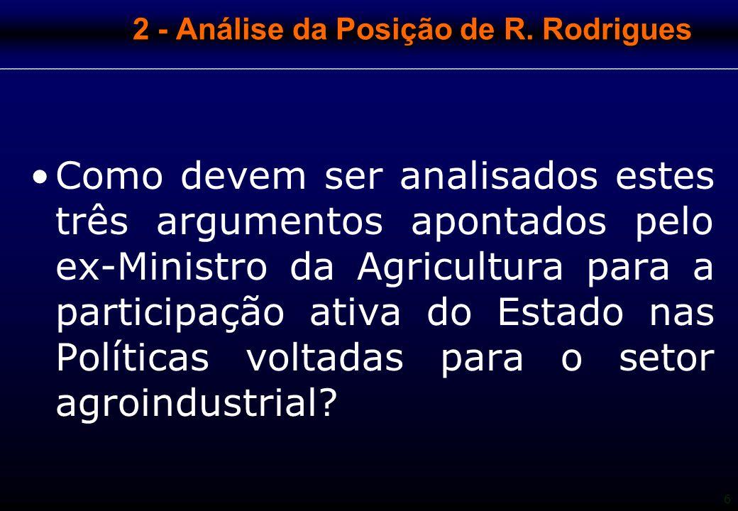 2 - Análise da Posição de R. Rodrigues