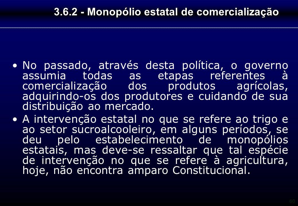 3.6.2 - Monopólio estatal de comercialização
