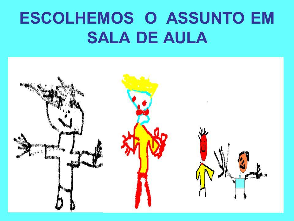 ESCOLHEMOS O ASSUNTO EM SALA DE AULA