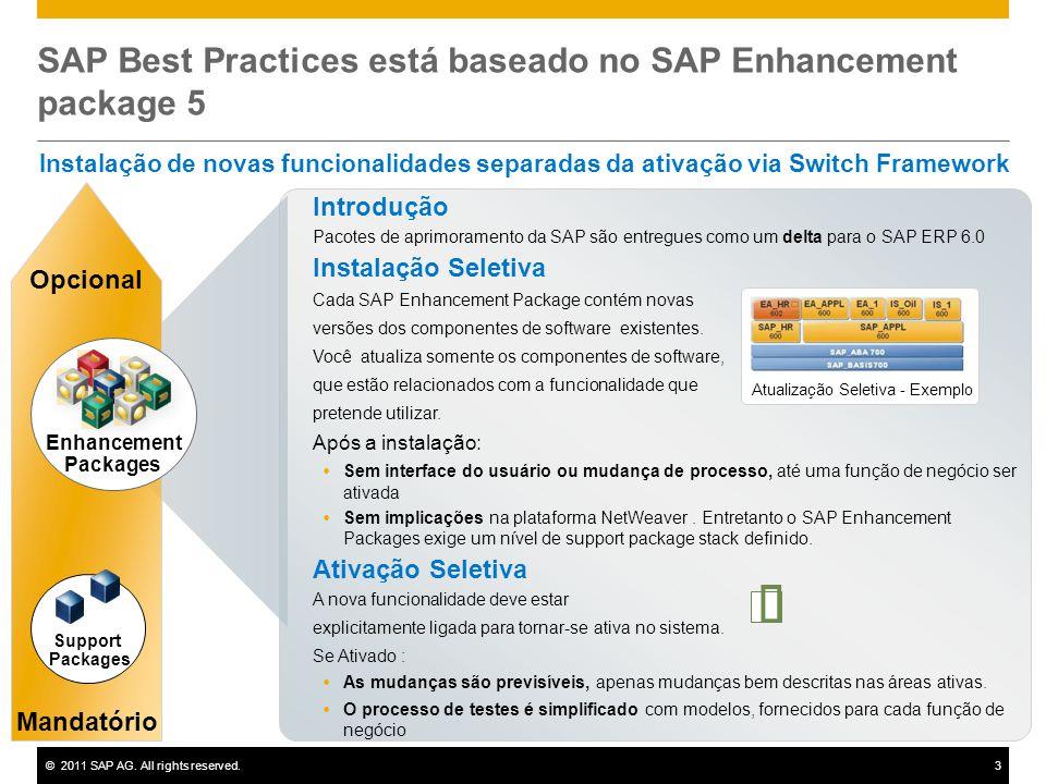 SAP Best Practices está baseado no SAP Enhancement package 5