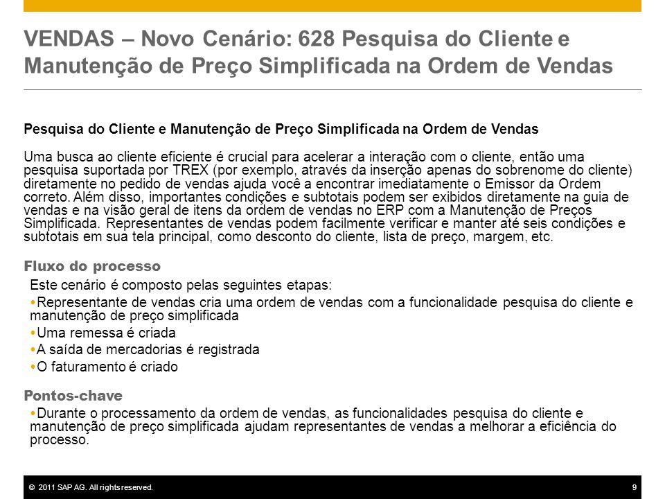 VENDAS – Novo Cenário: 628 Pesquisa do Cliente e Manutenção de Preço Simplificada na Ordem de Vendas