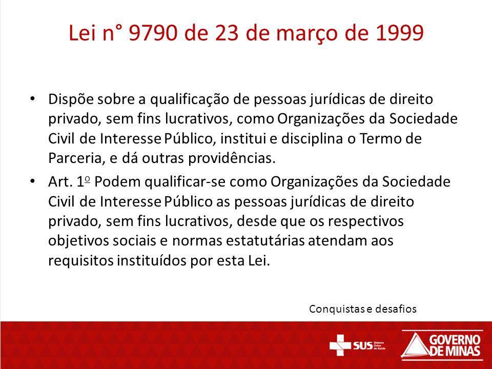 Lei n° 9790 de 23 de março de 1999