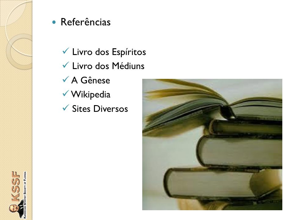 Referências Livro dos Espíritos Livro dos Médiuns A Gênese Wikipedia