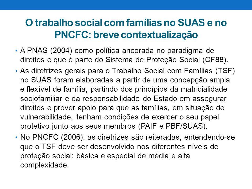 O trabalho social com famílias no SUAS e no PNCFC: breve contextualização