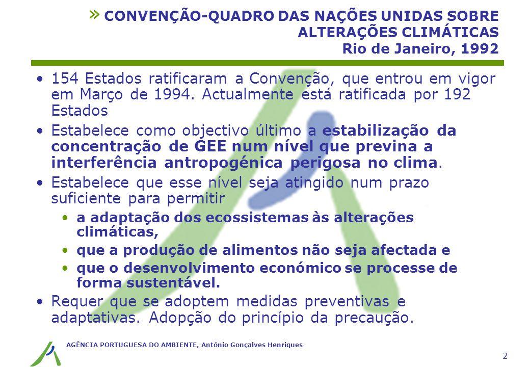CONVENÇÃO-QUADRO DAS NAÇÕES UNIDAS SOBRE ALTERAÇÕES CLIMÁTICAS Rio de Janeiro, 1992