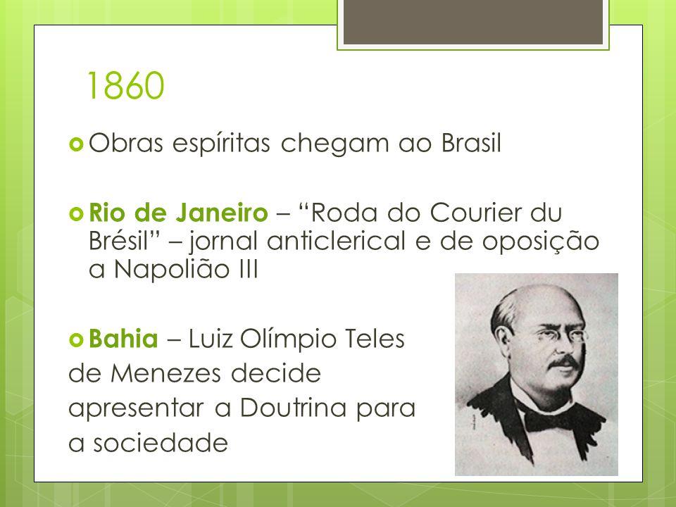 1860 Obras espíritas chegam ao Brasil